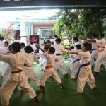 Kihon demonstration by children and adults etc.