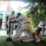 Breaking two baseball bats with thin bone by our Senior Ruvinda Madusanka