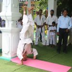 Demonstrations of head stand by Shihan Muthukumarana at the age of 74